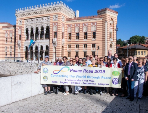 Peace Road -Wien-Zagreb-Belgrad-Srebrenica-Sarajevo: September 2019