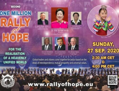 Zweite Rally of Hope für die Errichtung einer vereinigten Welt